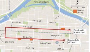 Calgary Stampede Parade Map 95 9 Chfm